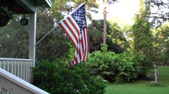 American Flag slow motion  - stock footage