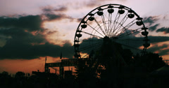 Ferris Wheel at Sunset 3 Stock Footage