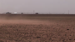 Blowing dust in Texas 3 Stock Footage