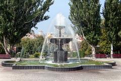 fountain in kharkiv, ukraine - stock photo