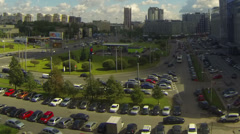 Constitution Square, St. Petersburg, Russia, timelapse Stock Footage