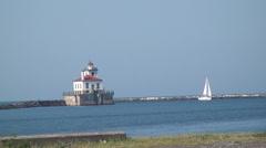 Lighthouse, Building, Naval, Marine - stock footage