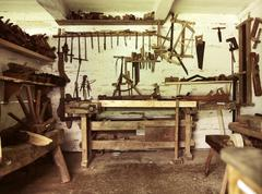 An old repair room in rustic house Stock Photos
