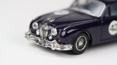 Classic Car Toy | Jaguar MKII spin Stock Footage