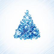 Stock Illustration of Christmas card with holiday elements.