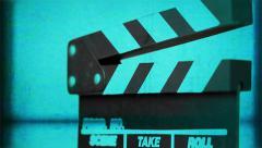 Filmmaker (Technocolor) | Rotating Clap Board - stock footage