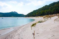 Cies islands natural park, galicia Stock Photos