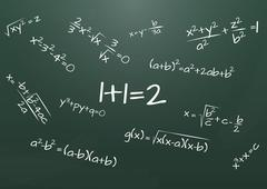 Math formula Stock Illustration