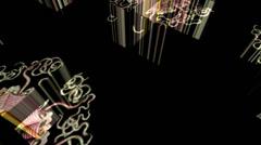 Discomedusa Jellyfish Cubes Stock Footage