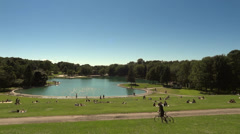 Warm Summer Day At The Park Stock Footage