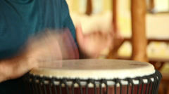 African drum (djembe) 1 Stock Footage