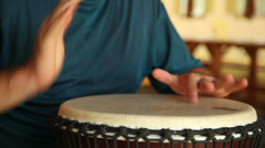 African drum (djembe), with sound 3 Stock Footage