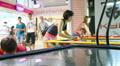 people play air hockey HD Footage