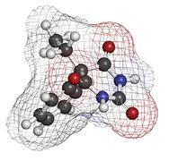 Phenobarbital barbiturate anticonvulsant (epilepsy drug), chemical structure Stock Illustration