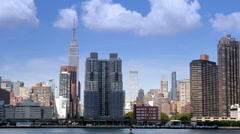 Manhattan Skyline with Empire State Building - stock footage