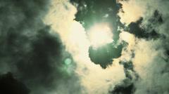 Dramatic Stormy Skies - Black Clouds Timelapse Stock Footage