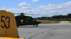 Hkp 14 NH90 helicopter Stock Footage