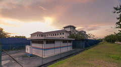 Timelapse of Sunset At TNB Sub-station Stock Footage