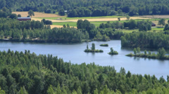 Scenic lake in country setting Stock Footage