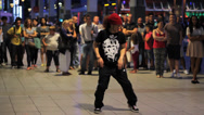 Stock Video Footage of Street Dancers Dancing in front of Crowd 2