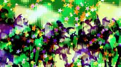 Dancing Party Crowd - Summer Night Club - VJ Loop Stock Footage