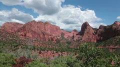 Beautiful mountain Kolob Canyon Zions National Park HD 8771 Stock Footage