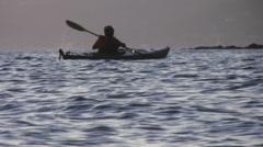 Twilight Kayak - stock footage
