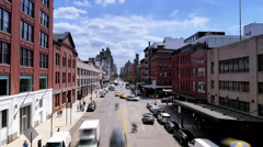 Manhattan Street Time Lapse Stock Footage