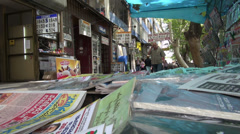 Money exchange booths, Tbilisi Stock Footage