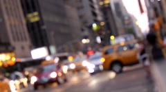 Defocused Manhattan Activity Stock Footage