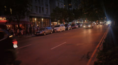 Upper West Side Night Traffic Stock Footage