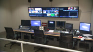 Stock Video Footage of Broadcast TV Studio Control Room