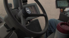 Computer driven tractor 1 Stock Footage