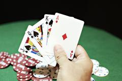 Poker good hand Stock Photos