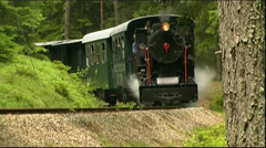 Narrow gauge steam locomotive Stock Footage