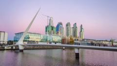 Stock Video Footage of Puerto Madero Time Lapse