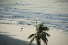 Surfer ready to go santa teresa nicoya costa rica Stock Photos