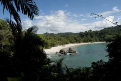 Stock Photo of beautiful beach in manuel antonio national park costa rica