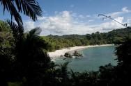 Stock Photo of beautiful beach in manuel antonio national park costa rica