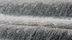 Close up of water cascades Stock Footage