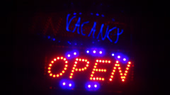 Hotel vacancy sign neon Stock Footage