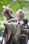 Birdwatching manuel antonio national park costa rica Stock Photos