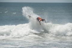 Yli huuleen Surf Costa Rica Kuvituskuvat