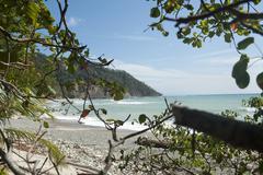Paradise beach cabo blanco national park costa rica Stock Photos