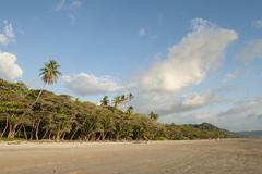 panoramic view open width beach santa teresa nicoya costa rica - stock photo