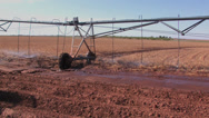 Stock Video Footage of Farmer checks center pivot 3