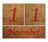 Stock Illustration of wooden calendar november 11.