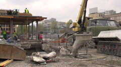 Construction site in downtown Tbilisi Stock Footage