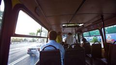 Public Transport Inside Stock Footage