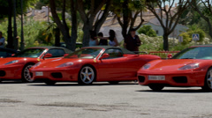 Row of ferraris Stock Footage